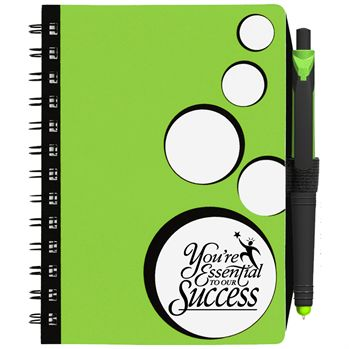 SpotLight Notebook With Sticky Note Combo - Personalization Available