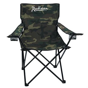 Nylon Camo Folding Chair & Carrying Bag - Personalization Available