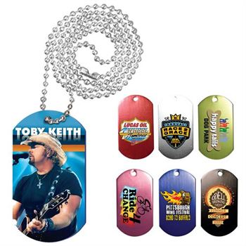Full-Color Digital Dog Tag with Chain