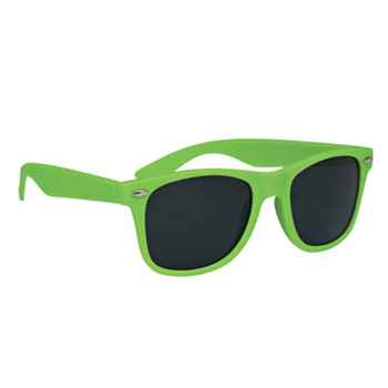 Soft-Touch Matte Polycarbonate UV400 Sunglasses - Personalization Available