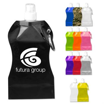 Wave Collapsible Bottle With Attached Carabiner 16.9-oz. - Personalization Available