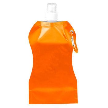 16.9 Oz. Wave Collapsible Bottle With Attached Carabiner - Personalization Available
