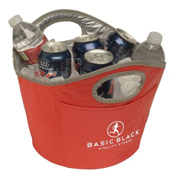 Soft Sided Tailgate Ice Bucket With Easy Grip Handles - Personalization Available