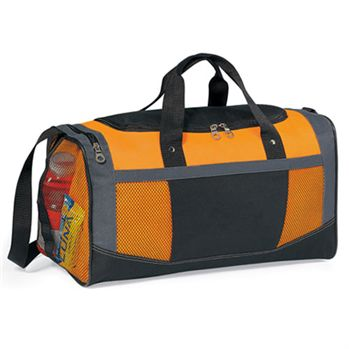 Flex Sport Gym Bag With Side Mesh Pocket - Personalization Available