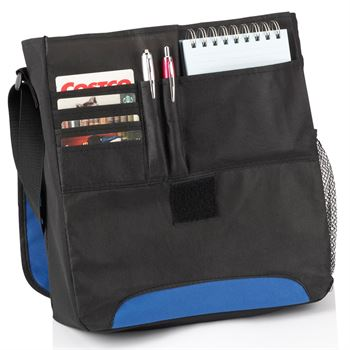 Budget-Friendly Briefcase/Messenger Bag With Front Zipper Pocket - Personalization Available