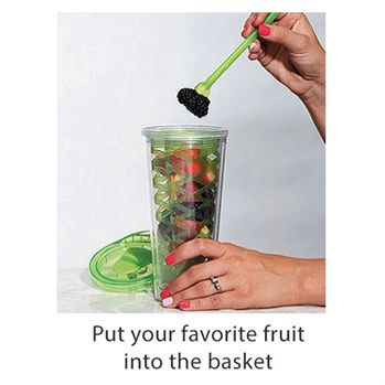 20-oz. Fruit Basket Infuser Bottle - Personalization Available