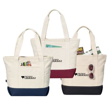 Newport Cotton Zippered Tote - Personalization Available