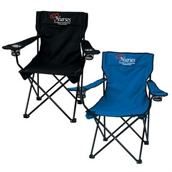 Nurses Excellence Compassion Commitment Folding Chair With Carrying Bag