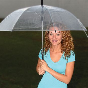 "46"" Arc Clear Umbrella - Personalization Available"