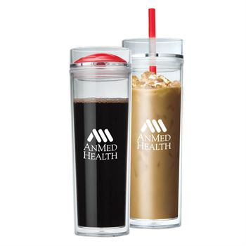 Jomocha Double Lid  Hot/Cold Tumbler 16-oz.- Personalization Available