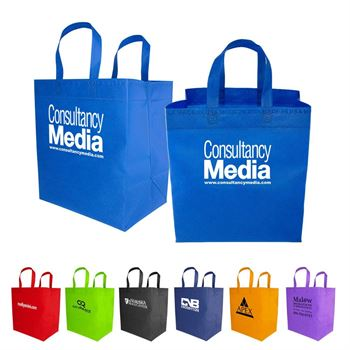 Non-Woven Grocery Shopper Bag - Personalization Available
