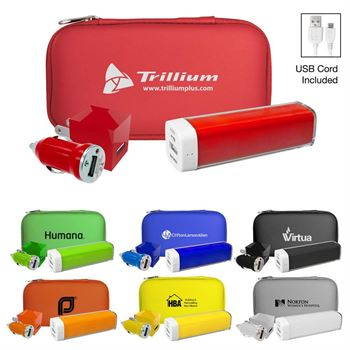 Deluxe Travel Phone Charger Set - Personalization Available