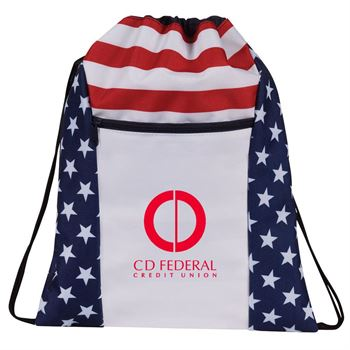 Military Drawstring Backpack - Personalization Available