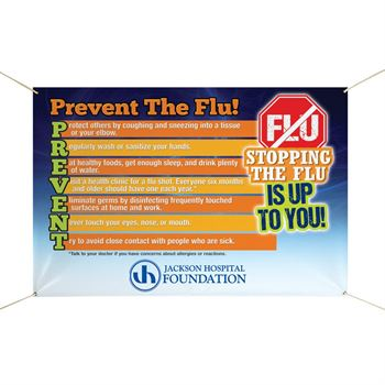Stopping The Flu Is Up To You! 6' x 4' Full Color Vinyl Banner - Personalization Available