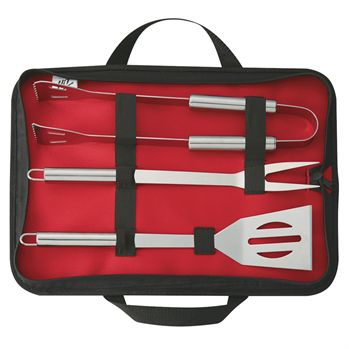 3 Piece BBQ Set In Case - Personalization Available