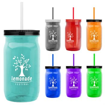 27-Oz. Spirit Tritan™ Mason Jar with Straw Lid - Personalization Available
