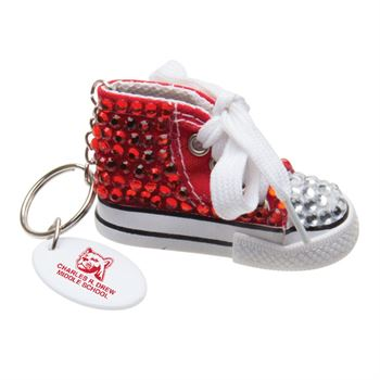 Mini Gym Shoe Bling Key Tag - Personalization Available