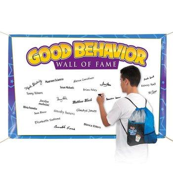 Good Behavior Wall Of Fame 5' x 3' Vinyl Pledge Banner