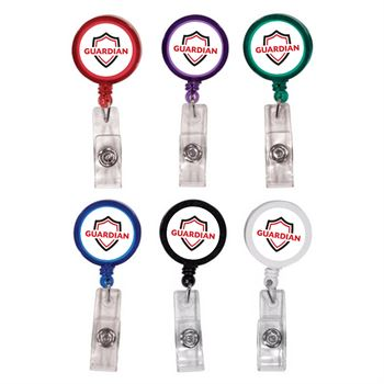 Retractable Round Badge-Holder with Alligator Clip