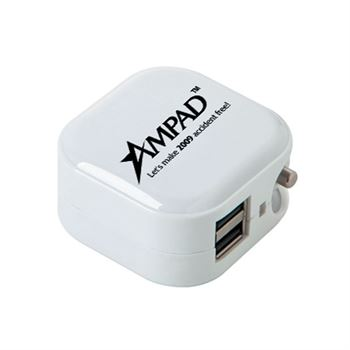5V/1A UL® Dual Port Wall & Car Chargers - Personalization Available