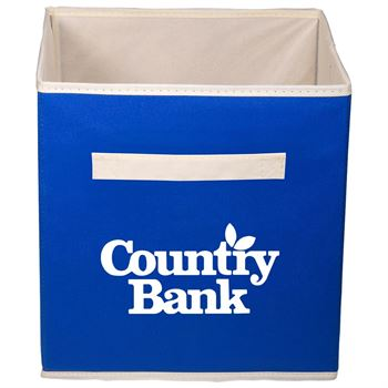 Folding Non-Woven Storage Bin - Personalization Available