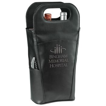 Belgio Insulated Double Wine Tote - Personalization Available