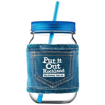 Mason Jar In Jeans 25-oz. - Personalization Available