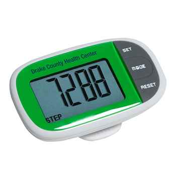 Easy See Pedometer With Clock - Personalization Available
