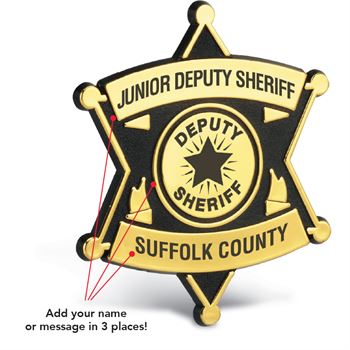 Junior Deputy Sheriff Badge - Personalization Available