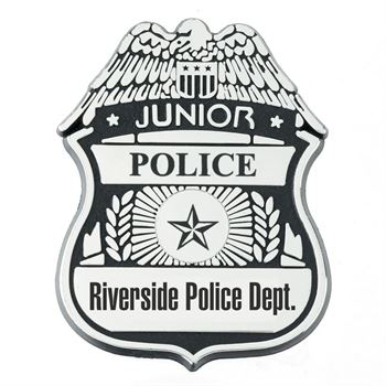 Plastic Junior Police Badge - Personalization Available