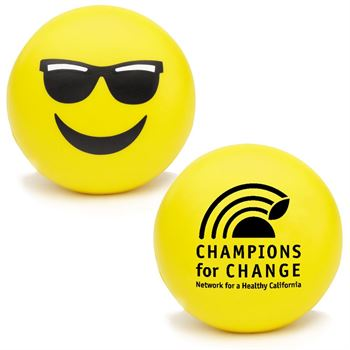 Mr. Cool Emoji Squeezies® Stress Reliever - Personalization Available