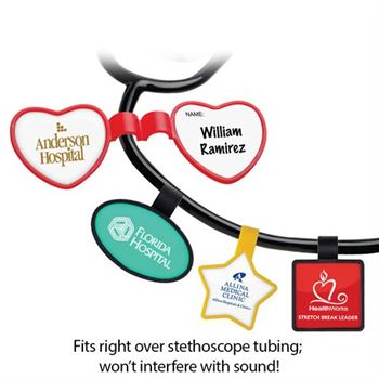 Anti-Microbial Shaped Stethoscope ID Tag