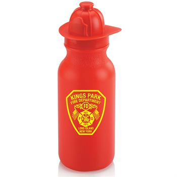 Fire Helmet Water Bottle 20-oz. - Personalization Available