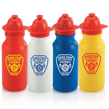 Fire Helmet Water Bottle - Personalization Available