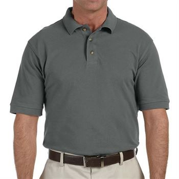 Harriton Men's 6-oz. Ringspun Cotton Pique Short-Sleeved Polo