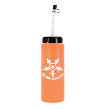 Sports Bottle With Flexible Straw 32-oz. - Personalization Available