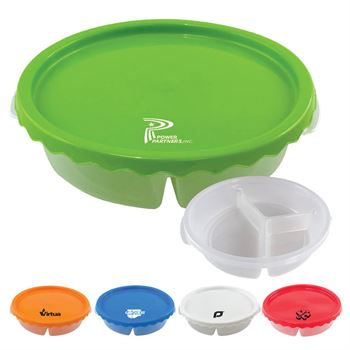 Curvy Round Lunch Container - Personalization Available