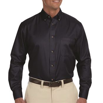 Harrington Easy Blend ™ Men's Long-Sleeve Twill Shirt with Stain Release
