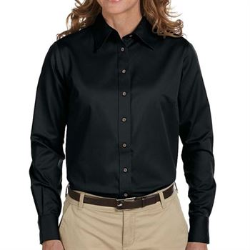 Harrington Easy Blend ™ Women's Long-Sleeve Twill Shirt with Stain Release