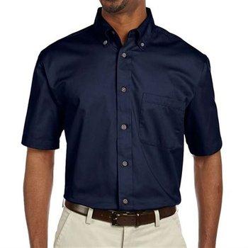Harrington Easy Blend ™ Men's Short-Sleeve Twill Shirt with Stain Release