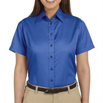 Harrington Easy Blend ™ Women's Short-Sleeve Twill Shirt with Stain Release