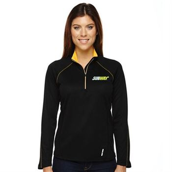 North End® Radar Half-Zip Women's Performance Long-Sleeve Top - Embroidery Personalization Available