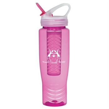 Poly-Clean™ Sports Bottle With Fruit Infuser 28-oz. - Personalization Available