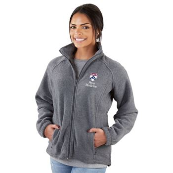 Harriton® Women's Full-Zip Fleece Jacket - Embroidery Personalization Available