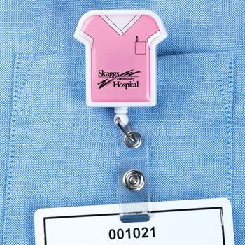 Medical Scrubs Retractable Badge Holder