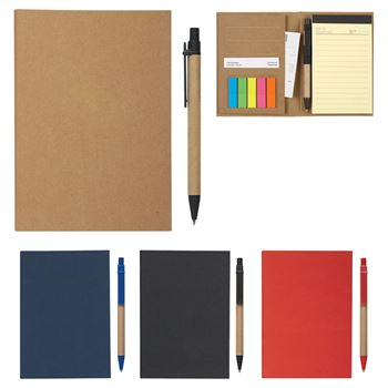 MeetingMate Notebook With Pen And Sticky Flags - Personalization Available