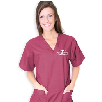 Unisex 2-Pocket Scrubs Top - Personalization Available