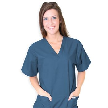 Unisex 2-Pocket Scrubs Top - Embroidery Personalization Available