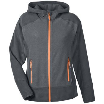 North End® Sport Polartec Women's Fleece Hooded Jacket - Embroidery Personalization Available