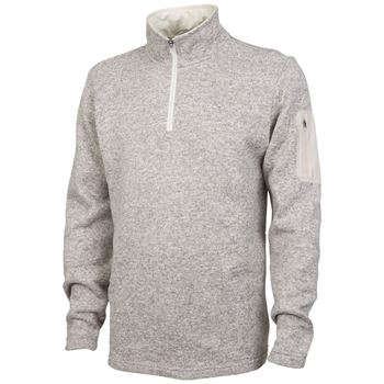 Men's Heathered Fleece Pullover - Embroidery Personalization Available